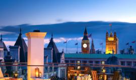 Вид на Лондон из отеля