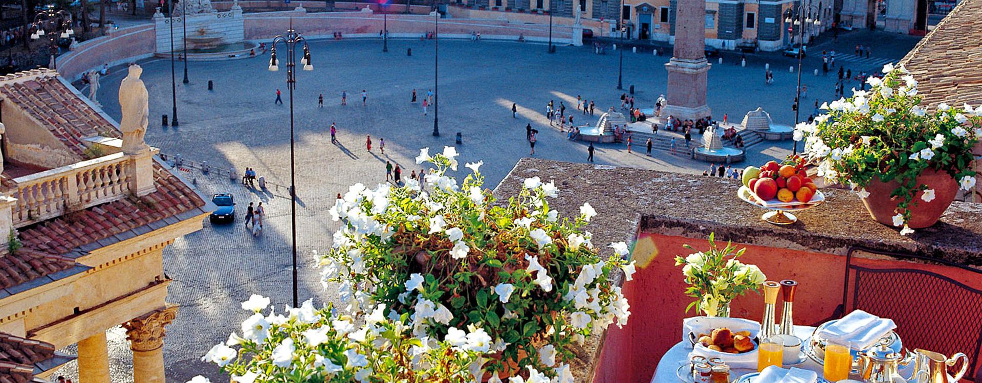 Вид на Рим из отеля DE RUSSIE