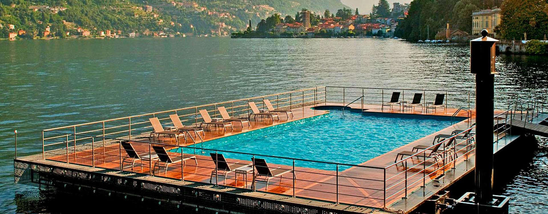 Озеро Комо, бассейн отеля Castadiva