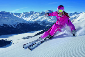 Санкт-Мориц - катание на лыжах