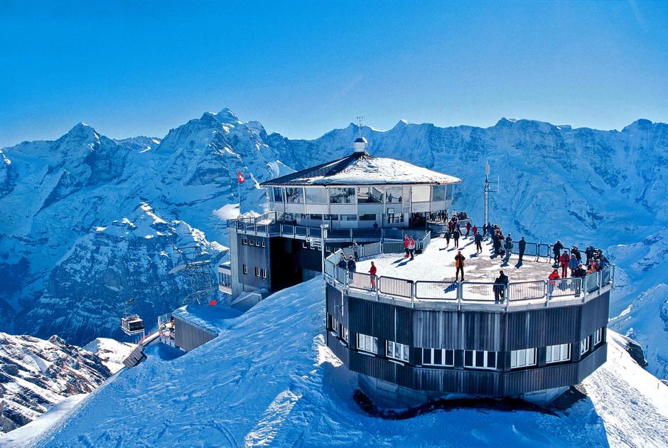 Катание на лыжах в Швейцарии
