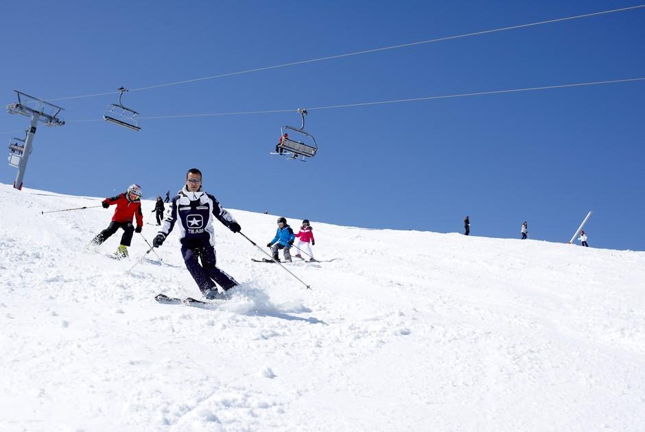 Катание на лыжах в Куршевеле во Франции