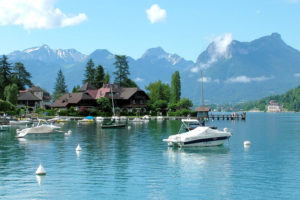 Отдых на озере Анси, Франция
