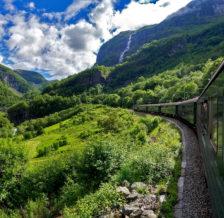 Фломская железная дорога в Нолрвегии