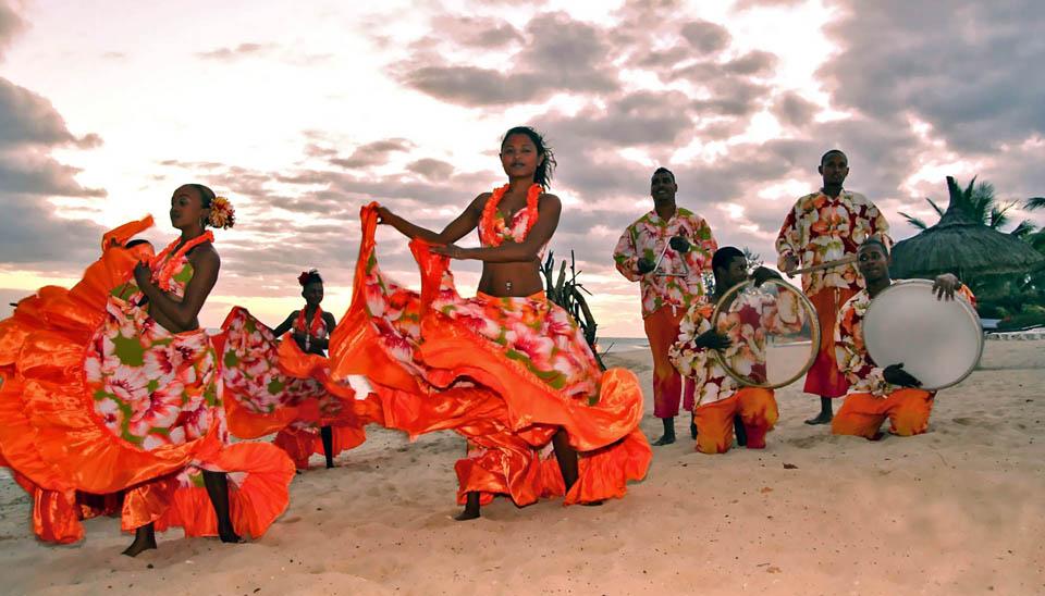 Национальный танец Маврикия - сега