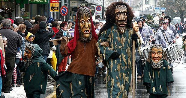Новогодний карнавал в Интерлакене
