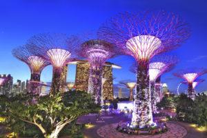 Сингапур ночной