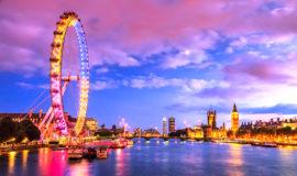 Вечерняя панорама Лондона