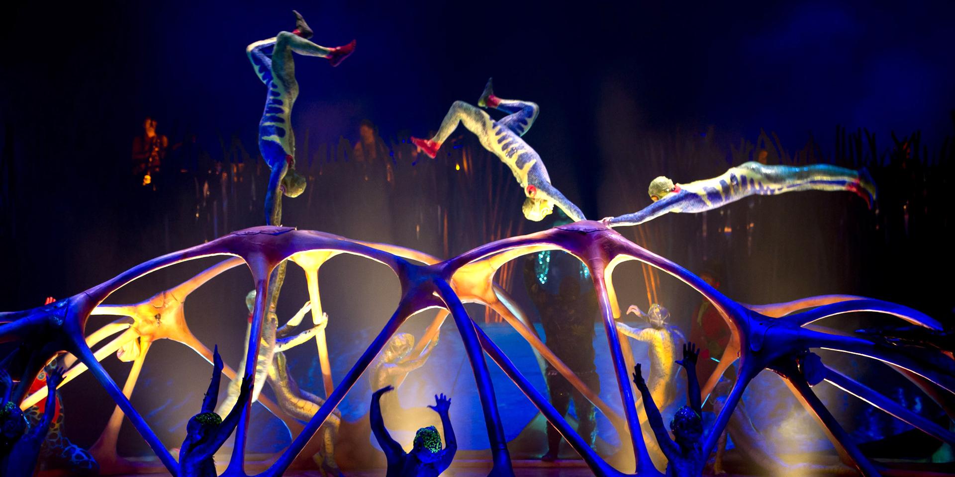 Выступление цирка Дю Солей